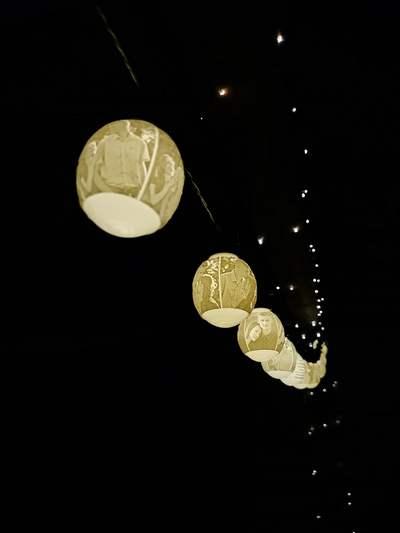 3D nyomtatott esküvői fényfüzér különleges dekorációhoz