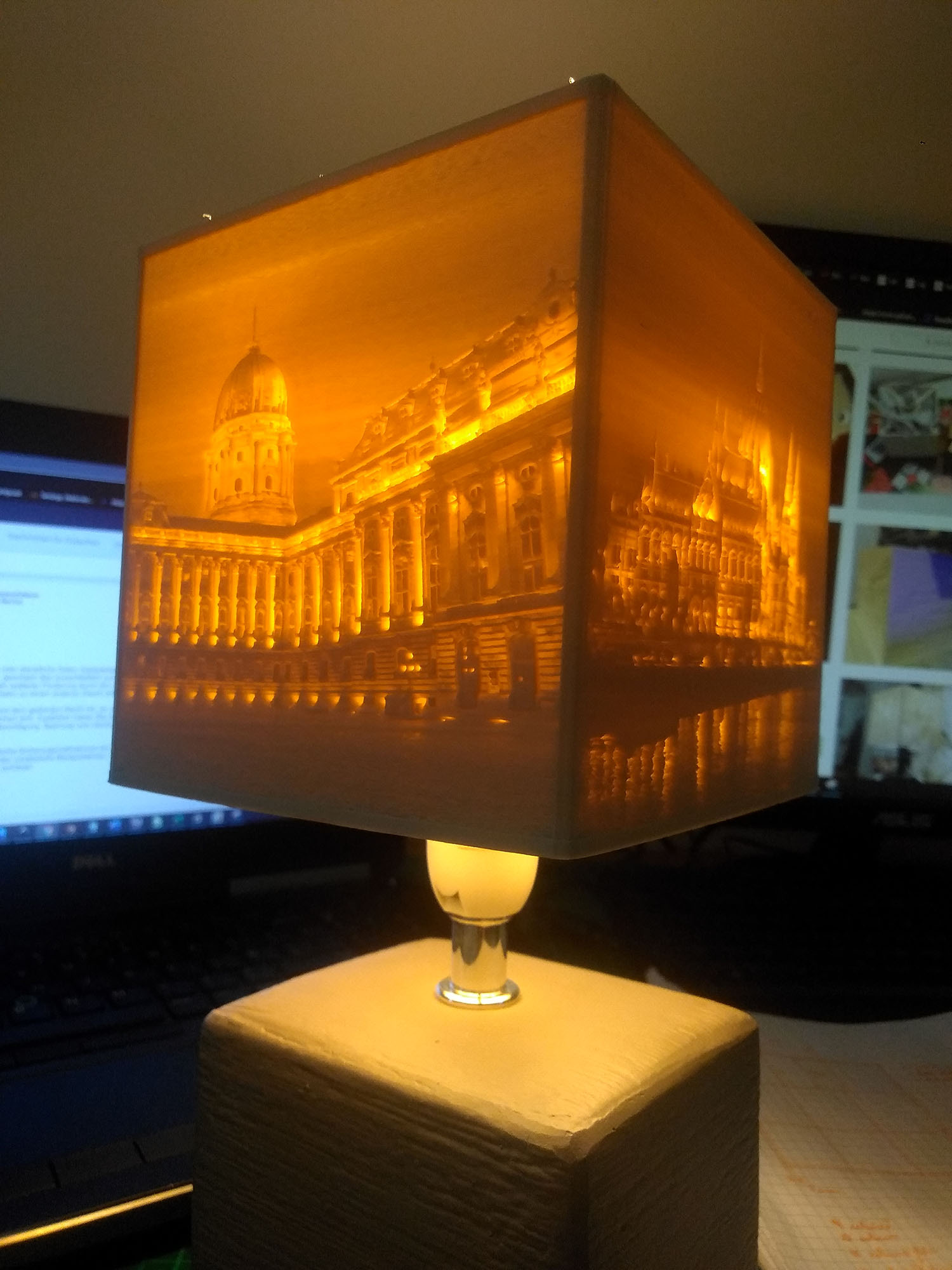 Egyedi fényképes lámpa - Budapest nevezetességei