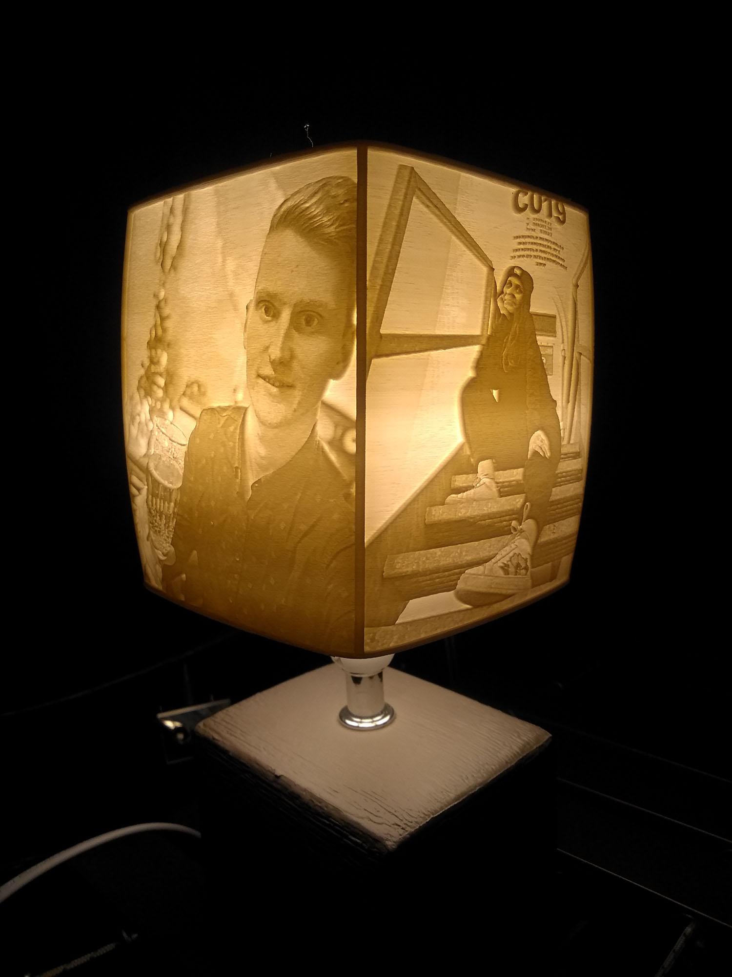 Egyedi fényképes lámpa - Pároknak